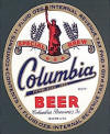 Columbia Beer, 11oz oval gold label - image