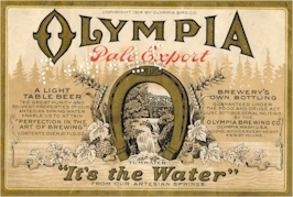 Olympia Beer label, c.1914