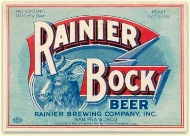 first Rainier Bock, Jan. 1934 - image