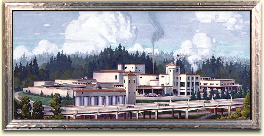 Olympia Brewery painting c.1938