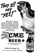 1941 Acme ad They All say Yes!