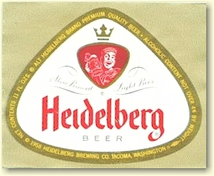 Heidelberg Beer label, c.1958 - image