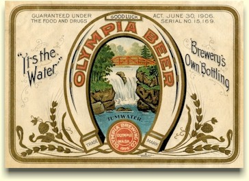 Early Olympia Brg. Co. label, c.1906