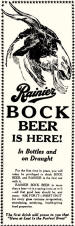 first Rainier Bock ad, Jan. 1934 - image