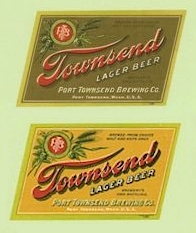 Two Townsend Lager Beer labels - image
