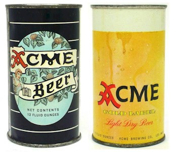 Acme Beer ft cans - image