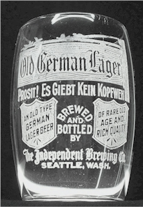 2nd Old German Lager etched beer glass
