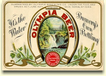 2nd Olympia Beer label, c.1906