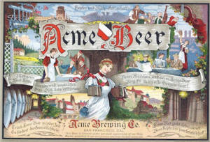Acme Beer label ca.1914