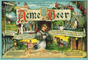 Acme Beer label ca.1917