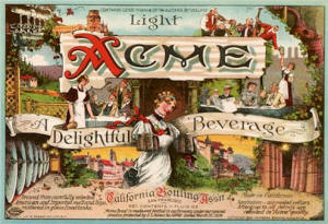 Acme Beverage label ca.1920