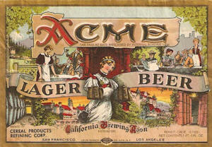 Acme Lager Beer label ca.1933