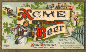 Acme Beer label ca.1939