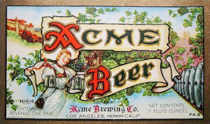 Acme Beer label ca.1942