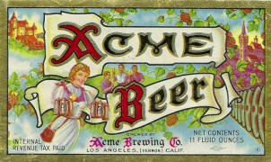 Acme Beer label ca.1946