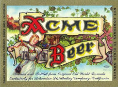 Acme Beer label ca.1959