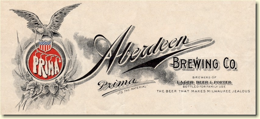 Aberdeen Brewing Company letter header - graphic