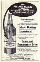 1911 ad for Acme Beer -  image