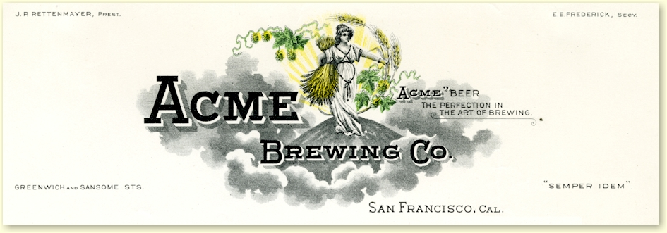 Acme Brewing Co. letterhead c.1911 - image
