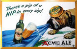 Acme's Englishtown Ale tin sign ca.1941