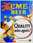 Acme poster 1940 Quality Wins Again