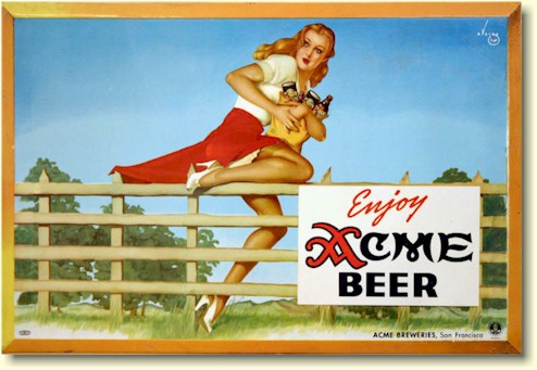 Alberto Vargas ad for Acme beer