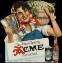 1948 die-cut Acme Beer sign
