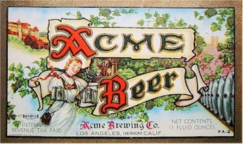 Acme Beer label ca.1940-46