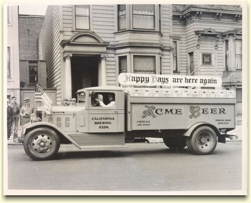 Acme Brewery delivery truck, c. 1933 - image