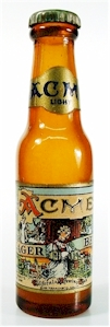 Acme Lager, mini beer bottle - image