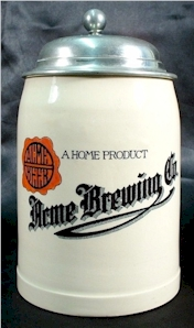 Acme Brewing Co. stein by Mettlach, c.1907 - image
