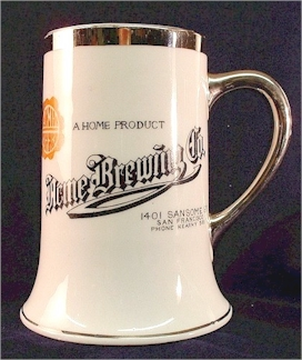 Acme Brewing Co. beer stein c.1910 - image