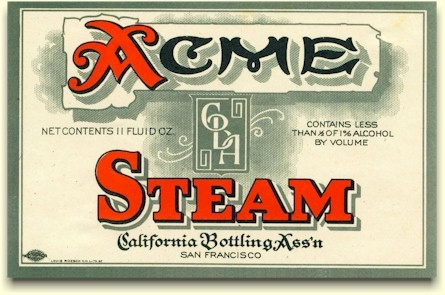 Acme Steam nera-beer label
