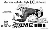 Acme Beer ad Geo. Petty cowgirl Apr 43