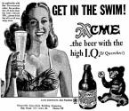 May 1946 ad for Acme Beer High IQ