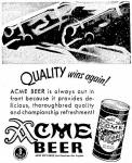 Acme ad Quality Wins Again ca.1940