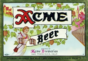 Acme Beer label ca.1948-50
