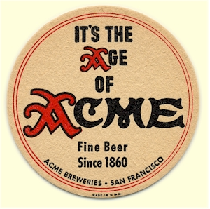 Acme Beer coaster c.1940 - image