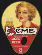 Acme Beer fan with NRA logo ca.1933