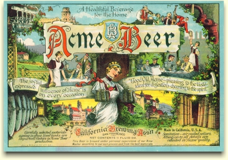 Acme Beer label change c.1917