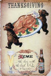 1946 Thanskgiving poster for Acme Beer