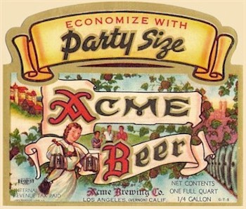 Acme quart  label Party Size 1946-48