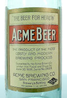 Acme Beer rear bottle label -  image