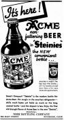 Acme ad from Aug.1936 introducing the steinie