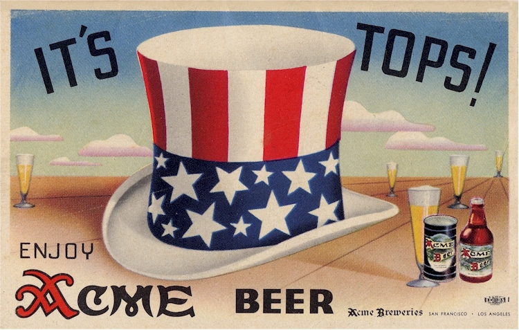 Acme Beer ad from WWII - image