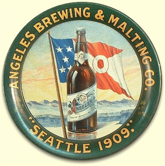 Angeles Brewing & Malting Co. tip tray c.1909 - image