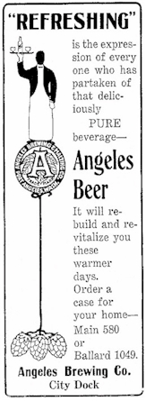 Angeles Beer ad, May 1914