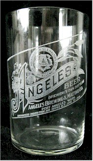 Angeles Beer etched glass - label version