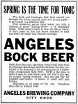 Angeles Bock Beer ad - Apr. 1914 - image