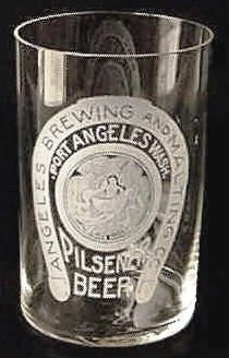Angeles Brg. Co. Pilsener Beer glass
